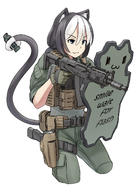 animal_ears artist:jpc cat_ears holster shield tagme weapon_to_identify // 1000x1414 // 579.1KB