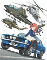 artist:mikelan helicopter school_uniform tagme vehicle weapon_to_identify // 2065x2640 // 3.7MB