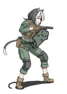 animal_ears artist:jpc cat_ears holster shield suppressor tagme weapon_to_identify // 707x1000 // 241.2KB