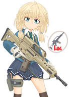 artist:mikelan holster school_uniform tagme weapon_to_identify // 1600x2240 // 1.6MB
