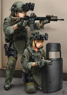 artist:jpc headset helmet holographic_sight holster shield tagme weapon:m4 // 2480x3507 // 4.4MB